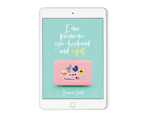i now pronounce you husband and expat book cover on ipad