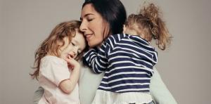 Author Emma Brockes with her children