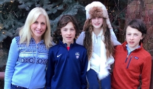 Emily Giffin and her children