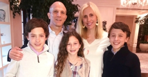 Emily Giffin with her husband and kids