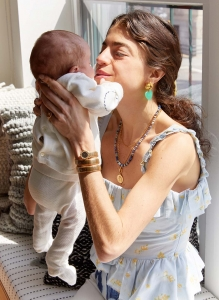Leandra Medine Cohen with one of her infant twins
