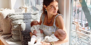Leandra Medine Cohen with her infant twins