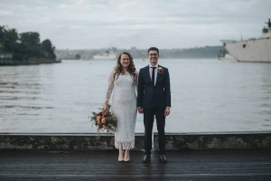 Caitlin Kay-Smith and her husband Roland on their wedding day